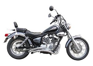 """Escapamento Torbal Yamaha Virago 250 Todas 2"""" Furia Corte Lateral"""