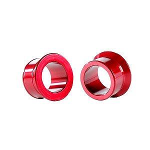 Espaçador da Roda Dianteira Honda Cr 125 250 Crf 250 450r Alumínio Vermelho Red Dragon