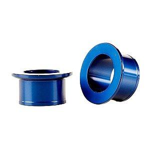 Espaçador da Roda Dianteira Yamaha Yz 125 250 Yzf 250 450 Alumínio Azul Red Dragon