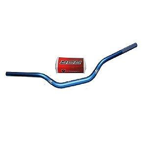 Guidão Motos Azul Big Bar 28mm Alto Red Dragon com Adaptador e Espuma