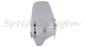 Kit Bolha Parabrisa Defletor Universal Motos Custom Cafe Racer Chopper Triciclo Air 9 Fume Claro