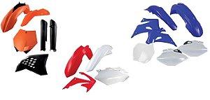 Kit Carenagem Honda Crf 250R 14-16 450R 13-16 Cor Modelo 2015 6 Peças Red Dragon