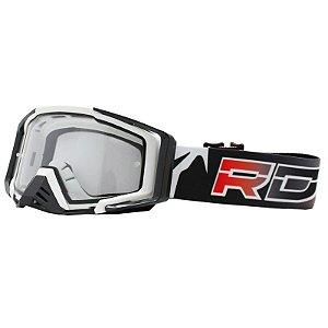 Óculos Capacete MotoCross Red Dragon EFX YH-105 B Branco Lente Dupla Cristal
