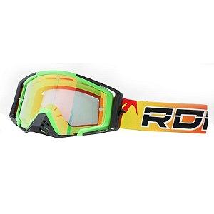 Óculos Capacete MotoCross Red Dragon EFX YH-105 VDFS Verde Neon Lente Semi-Espelhada