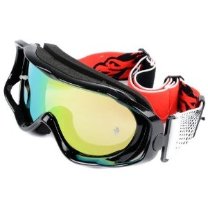Óculos Capacete MotoCross Red Dragon YH-08 P Preto Lente Espelhada