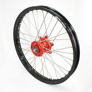 Roda Dianteira Completa 21'' KTM Sx Sxf Exc Excf 03-14 Preto e Laranja Red Dragon