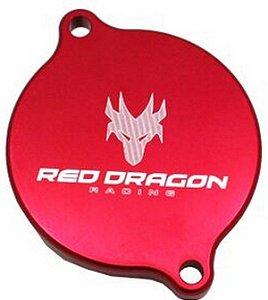Tampa do Motor de Partida aluminio Red Dragon Honda Crf 230 2007 Acima Vermelho