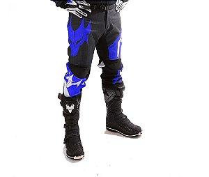 Calça MotoCross Red Dragon Attack Azul e Preto