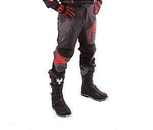 Calça MotoCross Red Dragon Attack Vermelho e Preta