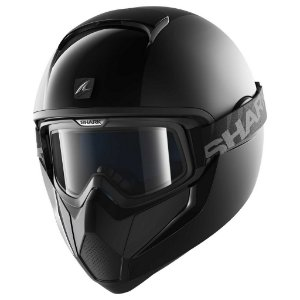 Capacete Moto com Óculos Shark Vancore Dual Black Blk Preto