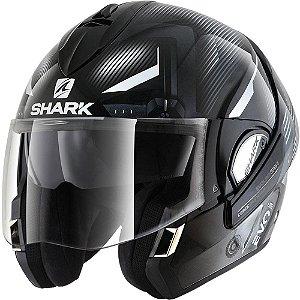 Capacete Moto Shark Evoline Serie 3 Shazer Kww Escamoteável Preto