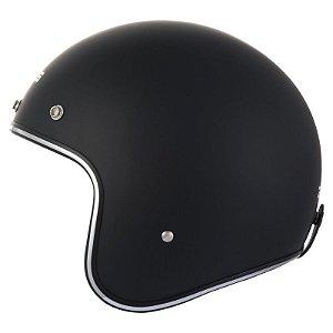 Capacete Moto Zeus 380H Black Aberto