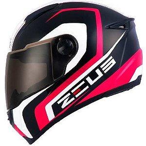 Capacete Moto Zeus 811 Black EVO Run Al13 Rosa