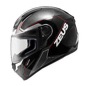 Capacete Moto Zeus 811 EVO Speedster AL6 Preto e Vermelho