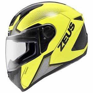 Capacete Moto Zeus 811 Evo Speedster Fluor AL6 Amarelo e Preto