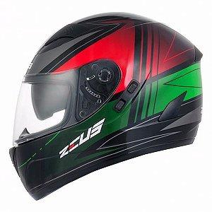 Capacete Moto Zeus 811 EVO TRIP J20 Preto Verde Novo
