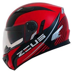 Capacete Moto Zeus 813 Field Solid An9 Red Black Edição Especial