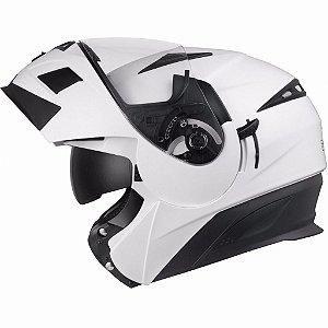 Capacete Moto Zeus Escamoteável Pearl White