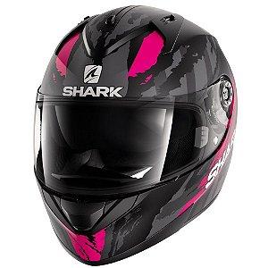 Capacete para Moto Shark Ridill Oxyd Matt Kpa Rosa e Preto