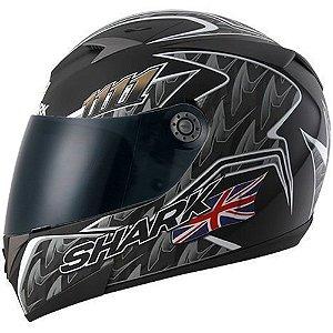 Capacete para Moto Shark S700 Réplica Foggy 20Th Birthday Kbs Preto