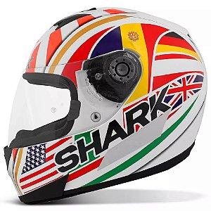 Capacete para Moto Shark S700 Réplica Zarco Wor