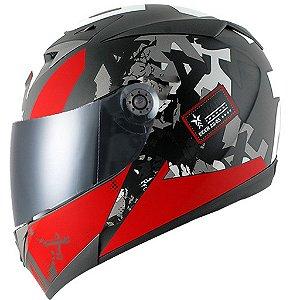 Capacete para Moto Shark S700 Trax Matt Kra Vermelho