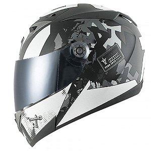 Capacete para Moto Shark S700 Trax Matt Ksa Prata