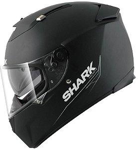 Capacete para Moto Shark Speed-R 2 Blank Matt Kma Preto Pulse Division