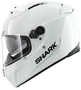 Capacete para Moto Shark Speed-R 2 Blank Whu Branco Pulse Division
