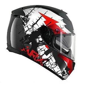Capacete para Moto Shark Speed-R 2 Charger Ss P Kwr Preto Vermelho Pulse Division