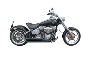 "Escapamento moto Torbal Harley Davidson Rocker 2009-2013 2"" 1/4Pol Curto Corte Reto"