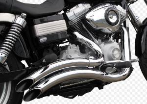 "Escapamento Torbal Harley Davidson Dyna Super Glide 12-14 2 ""1/4 Pol. Furia Lateral"