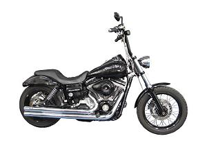 "Escapamento Torbal Harley Davidson Dyna Super Glide 2012-2014 2 ""1/4 Poleg. Long Reto C/ Capas"