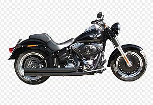 "Escapamento Torbal Harley Davidson Fat Boy 2006 A 2011 2 "" 1/4 PLG. Long. Corte Reto"