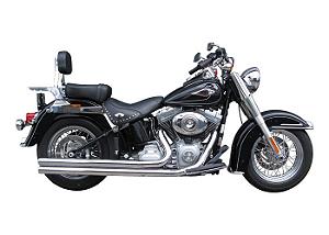 "Escapamento Torbal Harley Davidson Heritage 07-11 2"" 1/4 Pl. Long. Corte Reto Capas Longas"