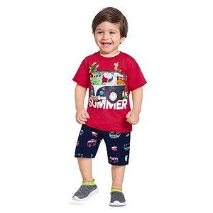 Conjunto Infantil Masculino Summer Camiseta + bermuda