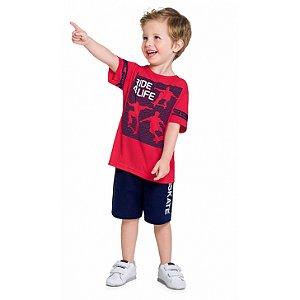 Conjunto Infantil Masculino Ride Camiseta + Bermuda