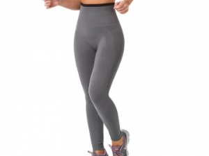 Calça Legging Modeladora Fitness Sem Costura Cinza
