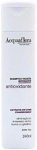 ACQUAFLORA  Antioxidante Violeta Extrato de Uvas Chardonnay Shampoo Matizador 240ml