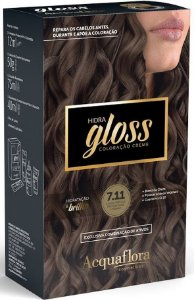 ACQUAFLORA Coloração Permanente Hidra Gloss 7.11 Loiro Natural Acinzentado Intenso
