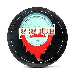 BARBA RUBRA Pomada Modeladora para Cabelo, Barba e Bigode Preta 100g