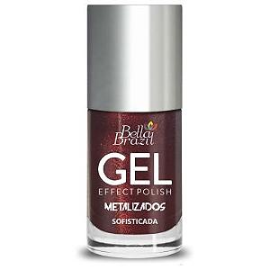 BELLA BRAZIL Esmalte Efeito Gel Metalizado Sofisticada 8ml