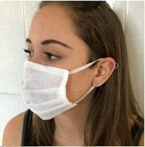 BELLA BRAZIL Máscara Facial Descartável em TNT Branca 5un