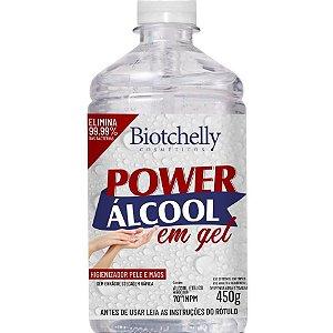 BIOTCHELLY Álcool Gel 70º Power Higienizador de Peles e Mãos 450g