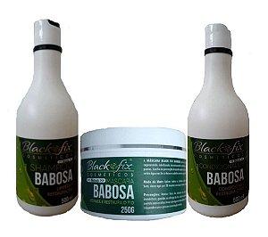 BLACK FIX Babosa Shampoo + Condicionador 500ml + Máscara 250g