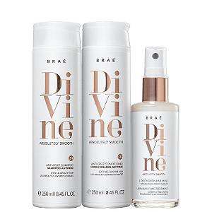 BRAÉ Divine Kit Shampoo + Condicionador Antifrizz 250ml + Máscara Capilar Líquida 60ml