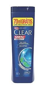 Clear Men Ice Cool Menthol Shampoo Anticaspa 400ml grátis 70ml