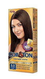 COR & TON Mini Coloração Permanente 5.0 Castanho Claro