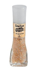 DAILUS Esmalte Vegano Babado e Gliteria Glitter Eu Que Lute 8ml