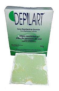 DEPILART Cera Depilatória Quente com Algas Marinhas e Óleo de Sementes de Uva para Peles Normais 50g